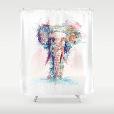 Elephant Shower Curtain by I AM DIMITRI - $68.00