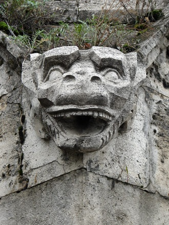 Stone Face at Gellért Hill