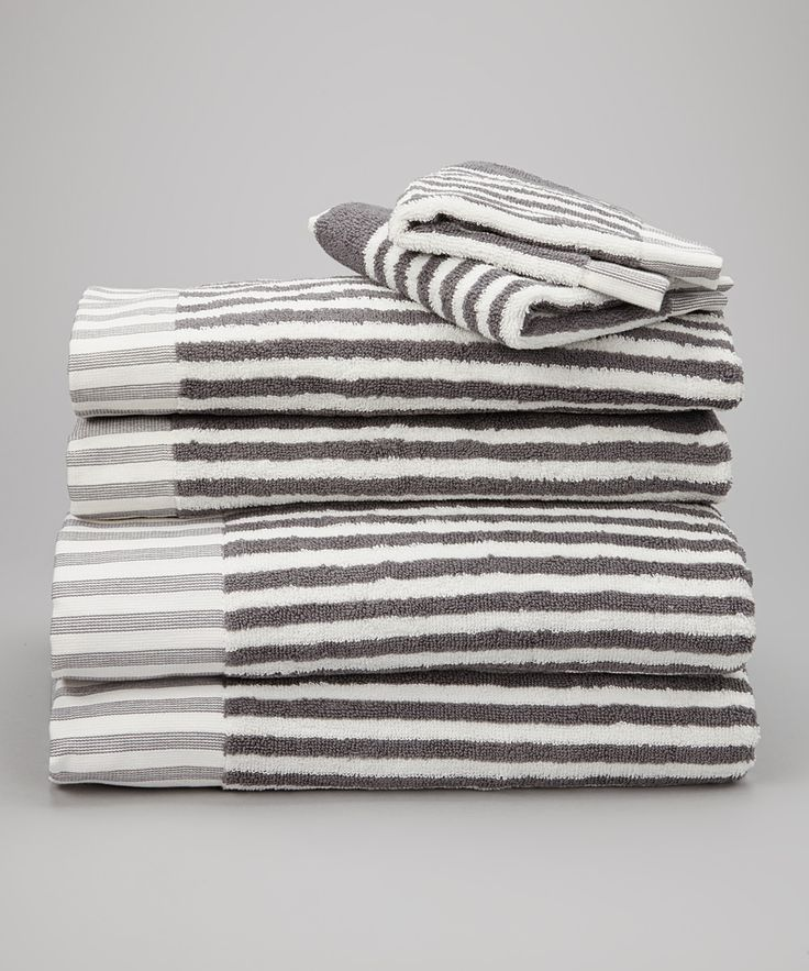 Espalma Striped Towels In Grey And White My Bathroom Ideas Pinterest Linen Bedding