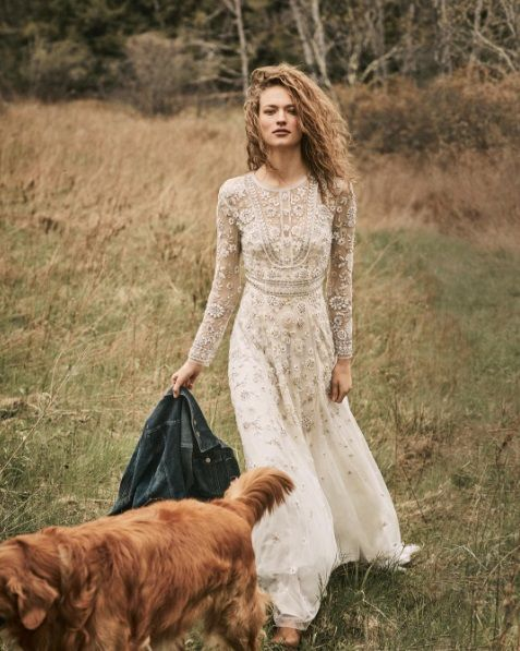 Perfect vintage style wedding dress by BHLDN (Tabitha Gown)