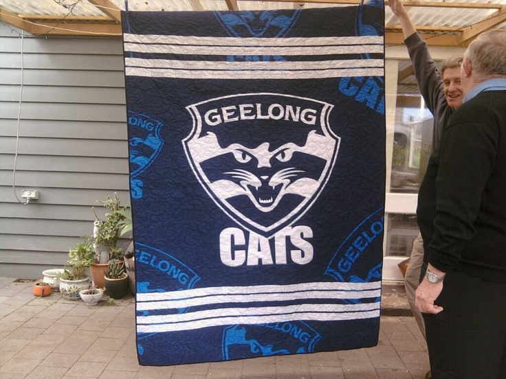 Geelong quilt for my dad for Father's Day