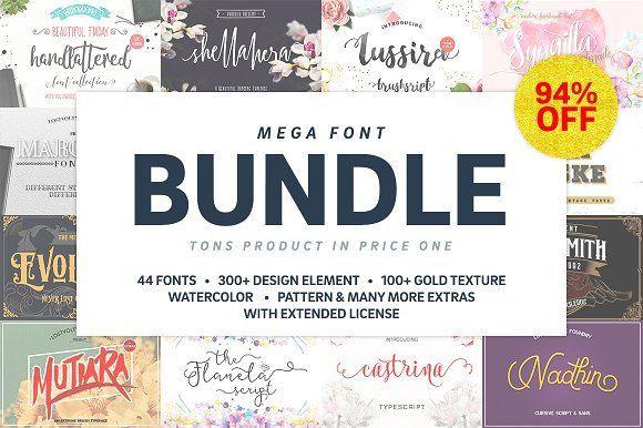 Mega Handmade Font Bundle by lostvoltype on @creativemarket