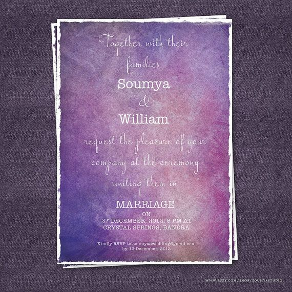 Hey, I found this really awesome Etsy listing at https://www.etsy.com/listing/121540268/purple-wedding-invitation-galaxy-wedding
