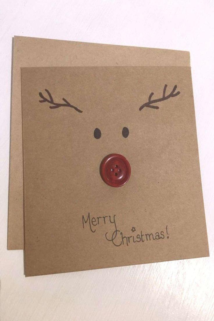 Carte de Noël carte de Noël du renne carte de remerciement carte