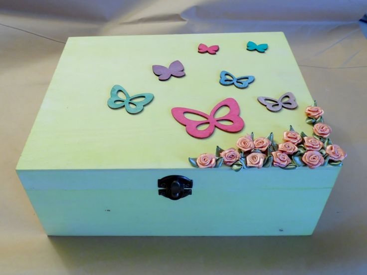 Sunshine Yellow Butterfly Box by VenusDelights on Etsy