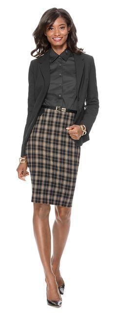 17 Best ideas about Plaid Pencil Skirt on Pinterest
