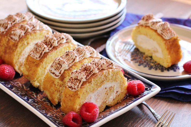 Rollet is a very popular Persian dessert that is a moist cake filled and rolled with fluffy homemade vanilla whipped cream | persianmama.com