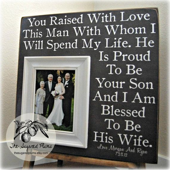 Wedding Gift Ideas From Grooms Parents : Parent wedding gifts on Pinterest Wedding gifts for parents, Parents ...