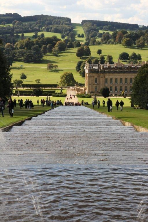 The Cascade, Chatsworth Gardens, Chatsworth House which forms part of our English Country House Tour of Derbyshire