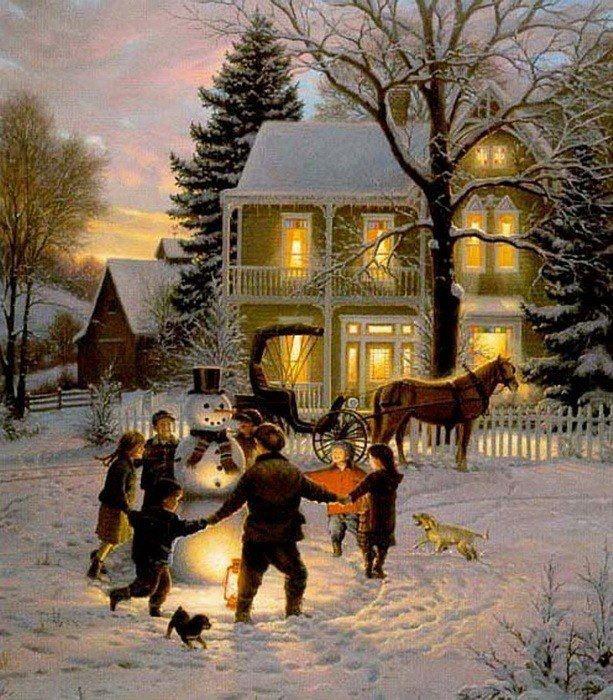 Winter Snow Scene / #christmas