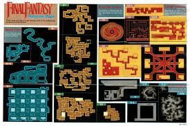 final fantasy 1 dungeon maps - references for dungeon designs