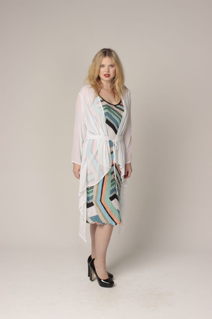 TCD spring 13 - bias slip and bangkok duster. curvy summer fashion. size 12 -24.