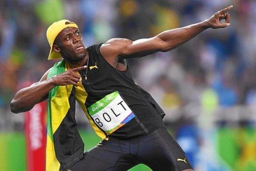 Olimpiadas en Río de Janeiro  Bolt en su gesto más característico