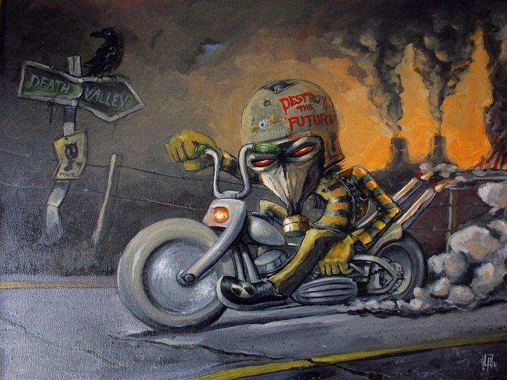 Original Art/Oil on canvas 30cm X 40cm/  Destroy the Future!!!