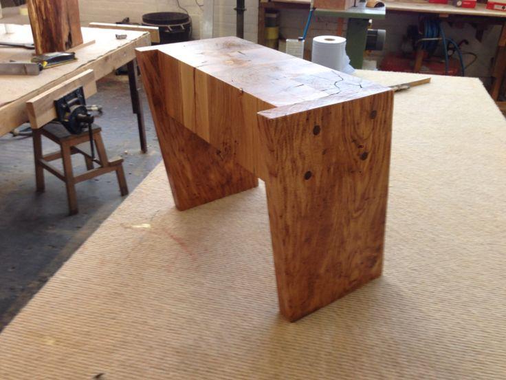 Green oak table