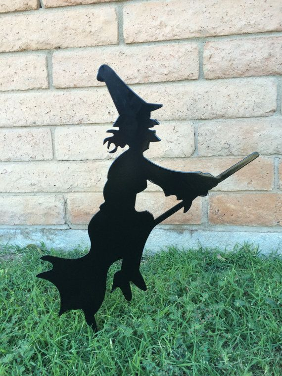 Halloween Lawn Decor Black Witch Halloween Witch by WhitingIron