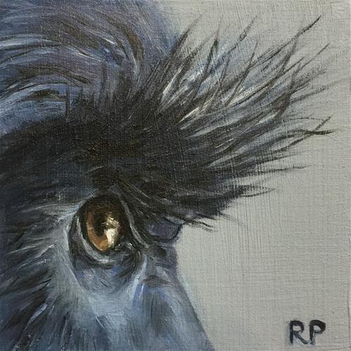 "Daily Paintworks - ""Monkey study"" - Original Fine Art for Sale - © Rhea Groepper Pettit"