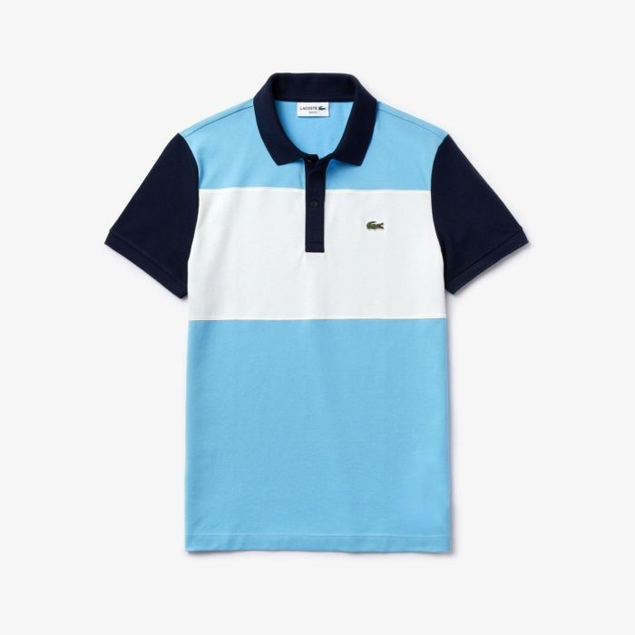 Lacoste Lacoste Polo Shirt Barbeau White Navy Blue In 2020 Lacoste Polo Shirts Online Mens Clothing Lacoste Polo
