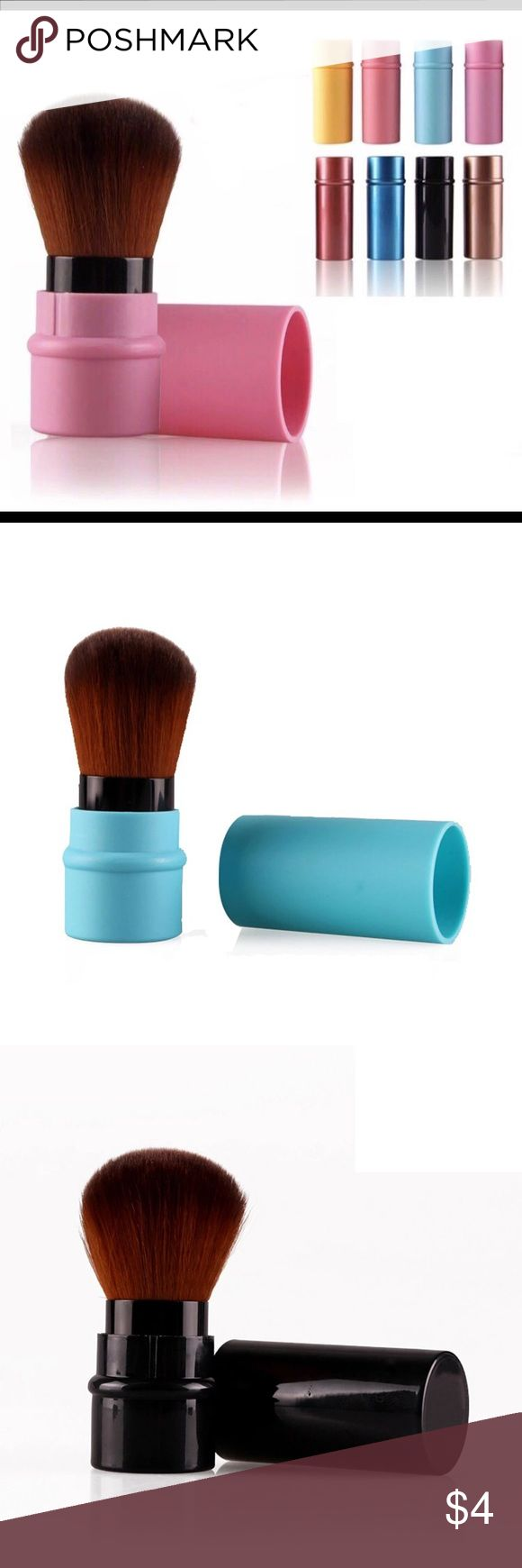 Retractable Cosmetic Brush. Specification: Brand New Color:Black,Blue,Brown,Pink,Red,Sky Blue,Watermelon, Yellow Gender:Women Total Length:8.2cm Hair length:3.7cm Hair width:4cm Material:Synthetic Hair;Plastic Used with:Powder Package: 1 PC Brush Makeup Brushes & Tools
