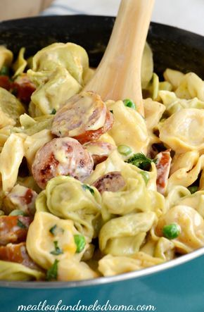 This One Pot Creamy Kielbasa Tortellini is smothered in a light cheddar cheese…