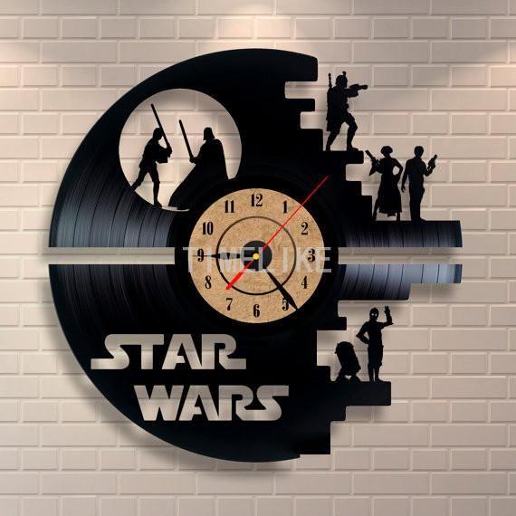 Star Wars Darth Vader Yoda Chewbacca Vintage Vinyl Home Decor Wall Art Gift