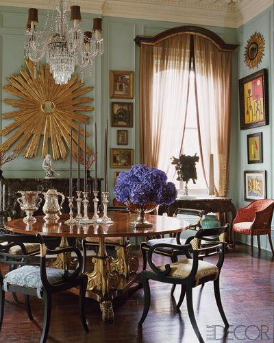 Designer Richard Keith Langham,  New Orleans. Elle Decor.