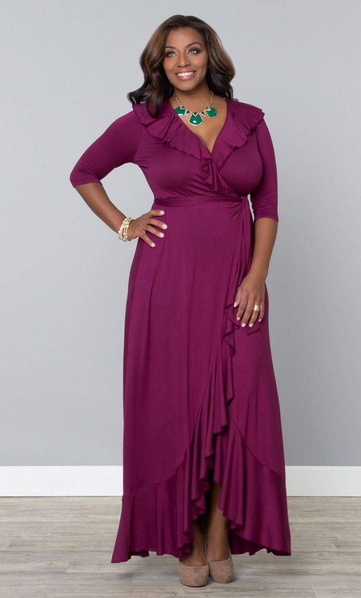Maritime Maxi Dress, Raspberry Tart (Womens Plus Size) From The Plus Size Fashion At www.VinageAndCurvy.com
