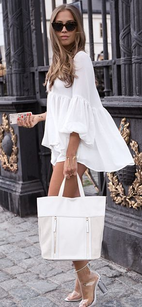 Everything White Summer Outfit by Kenzas: