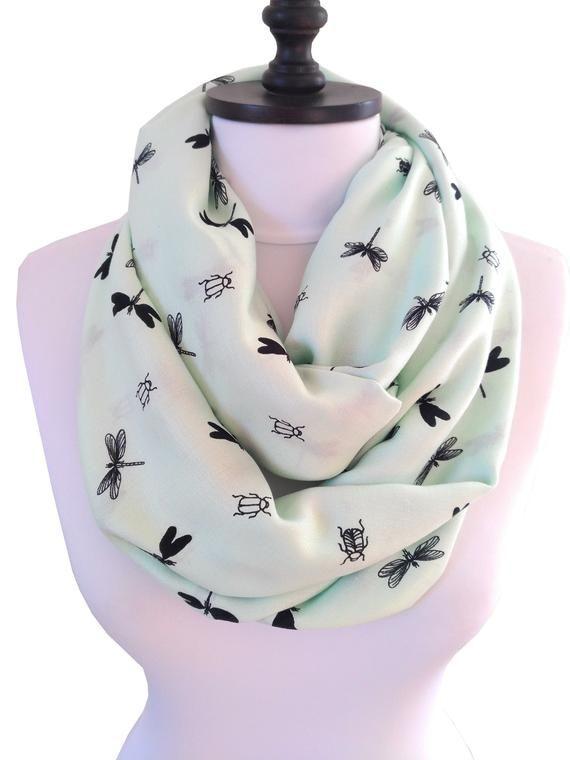 Women/'s Fashion Birds Animal Print Long Shawl//Infinity Ladies Loop Cowl Scarf