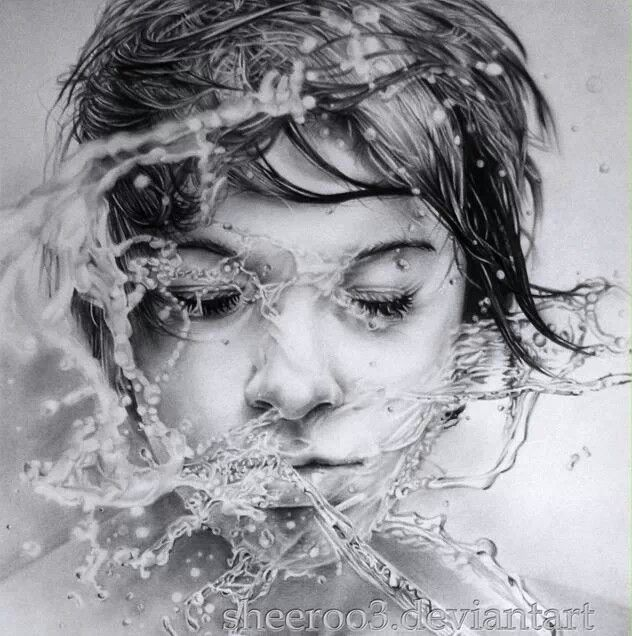 Union with water By Shiry - hyperrealistic drawing | ART ...