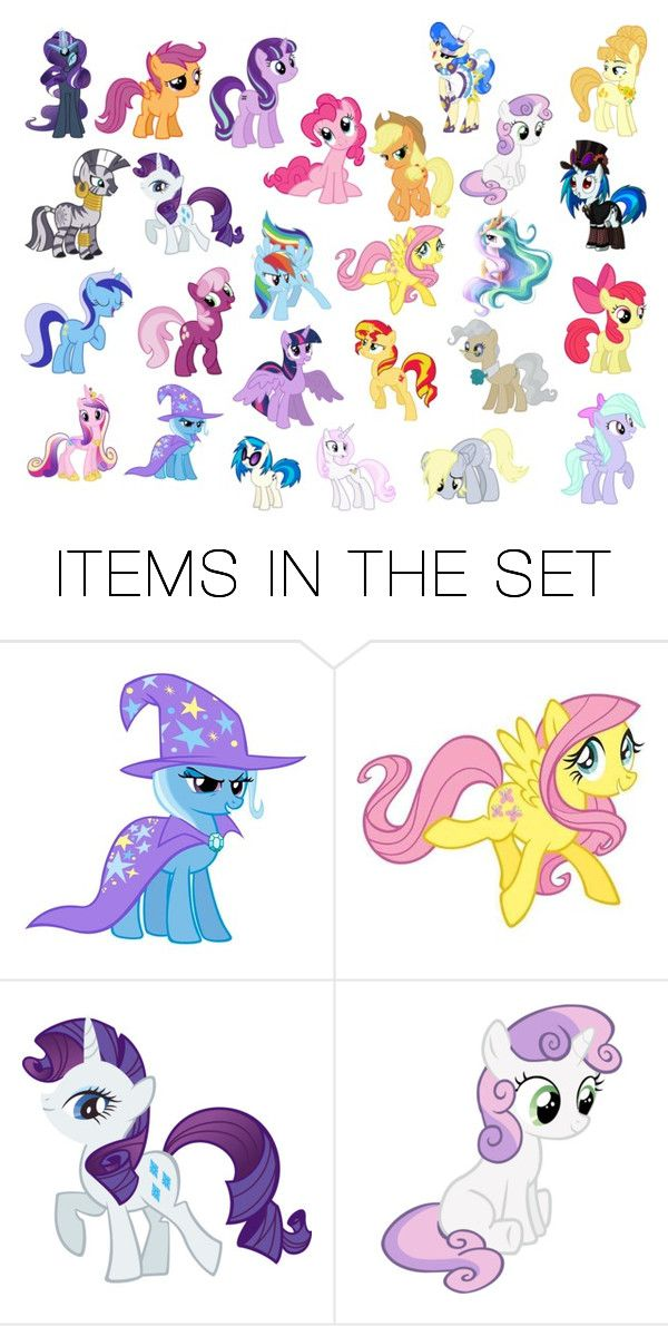 """""""My Little Pony Collection"""" by kitty-styles-horan-biedka ❤ liked on Polyvore featuring art"""