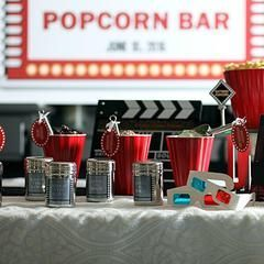 Hosting a popcorn bar? Our movie-themed popcorn bar seasoning shakers add a classic movie theme with an elegant touch to your event - and let your guests know what flavor of popcorn spices they're shaking onto their snacks. Even better: Each empty stainless steel shaker comes with a label that is personalized to coordinate with your event!