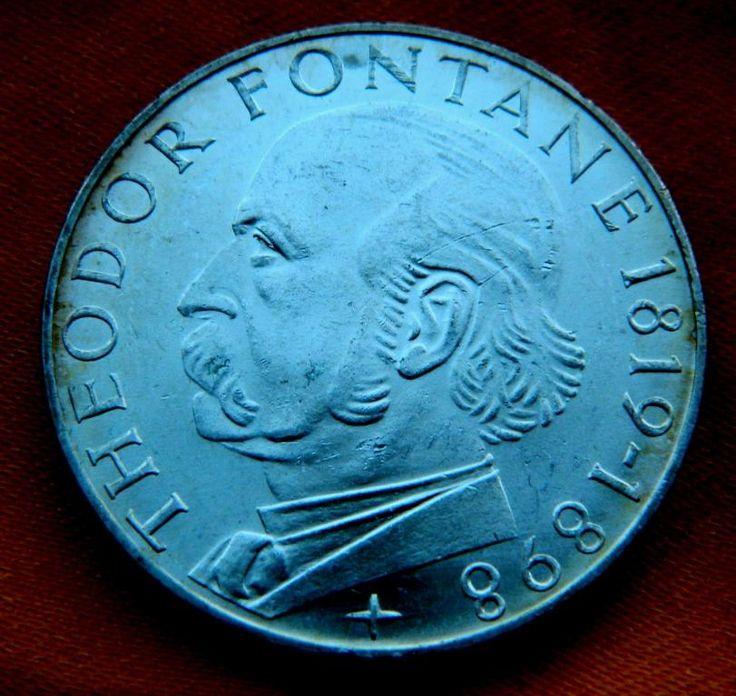 SALE 5 марок ФРГ Т.Фонтана 1819-98 СЕРЕБРО с Рубля