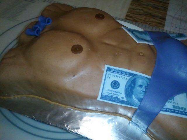 How To Make A Man Torso With Penis Cake
