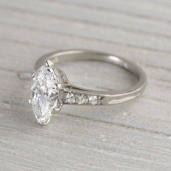 1 41 Carat Vintage Tiffany & Co Marquise Engagement Ring