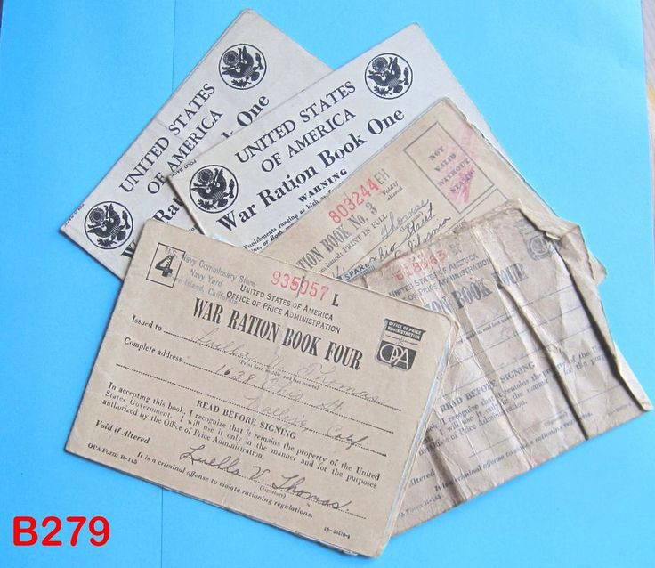 VINTAGE WORLD WAR II WWII RATION STAMP BOOK BOOKLET LET SET ONE THREE FOUR RARE