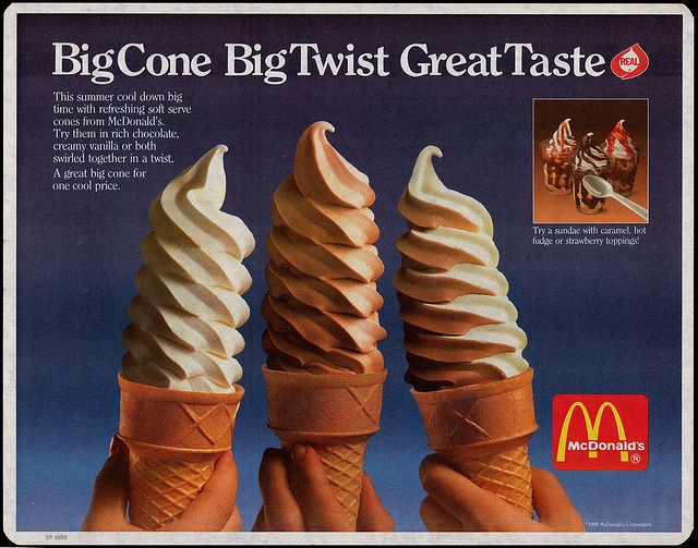 1988 McDonalds ice cream