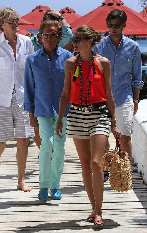 Olivia Palermo and Johannes Huebl in Mykonos with Giancarlo Giammetti ,Valentino Garavani and friends.