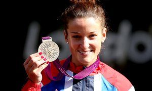 Lizzie Armitstead holds her silver medal. she was just 10 years old when she told her parents she wanted to become a vegetarian.