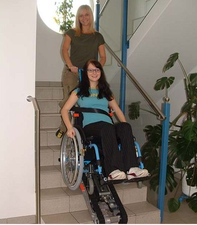 The stairclimber SA-2 adapts to most wheelchairs and can be taken apart easily for storage or transport in a car. The product is very robust and requires a minimum of maintenance.
