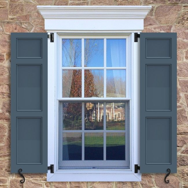 Flat Panel Shutters with Bead Trim, featuring a 20/40/40 split configuration. Premium Wood - Panel Shutters - Styles - Exterior Shutters - Timberlane Products