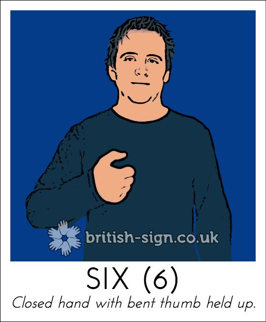 Today's British Sign Language sign from www.british-sign.co.uk is: SIX #BSL #SignLanguage