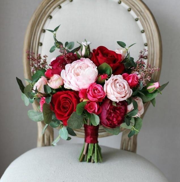 Mondaine Bridal Studio - Red Rose Wedding Bouquet – Mondainé Bridal Studio