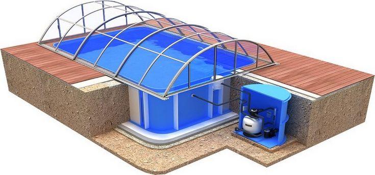 Pool-Komplettset / Swimmingpool-Set Albixon Quattro A Klasik