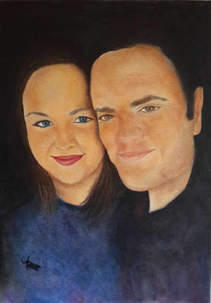Leané's Mom & Dad - Pastel on Paper  (Sold) Commissioned