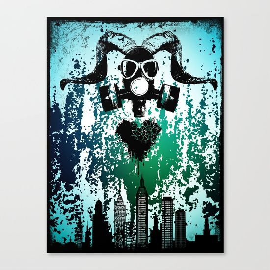 Polluted Soul Canvas Print by Helle Gade - $85.00 #art