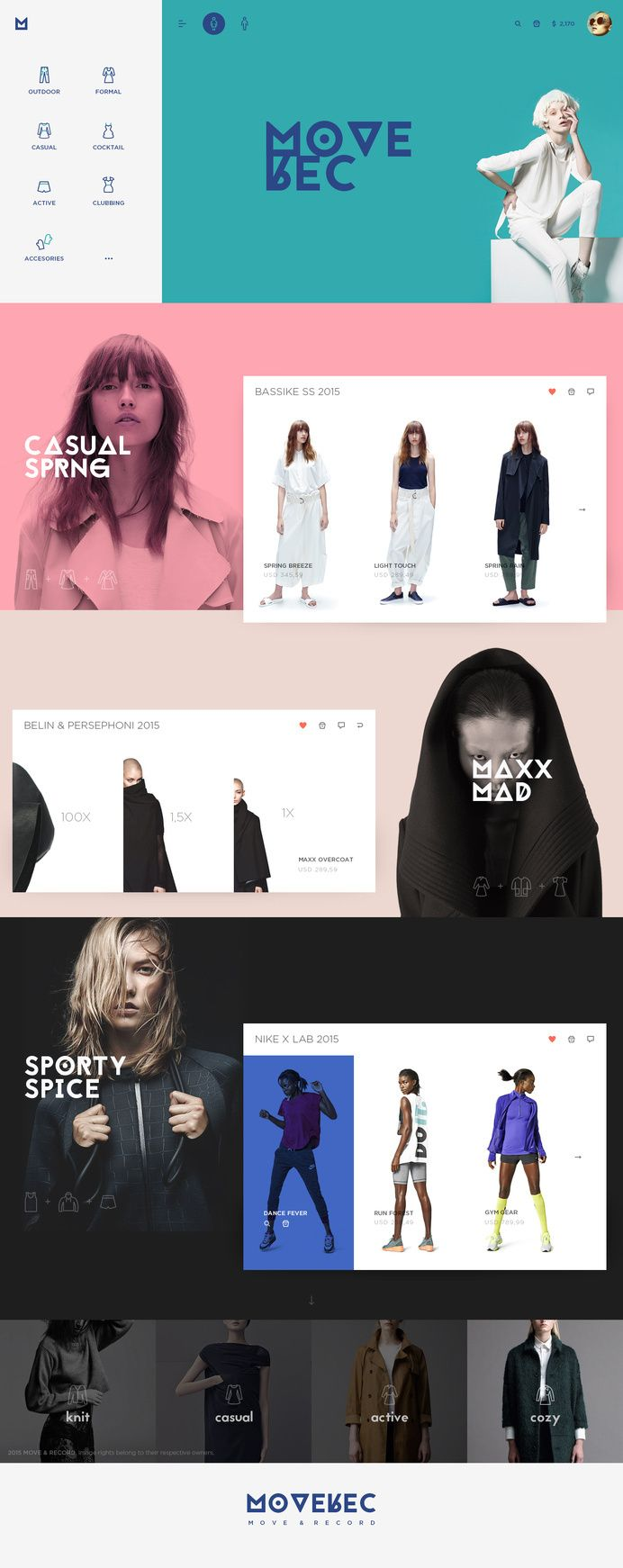 Colorful & simple layout in Web & ui
