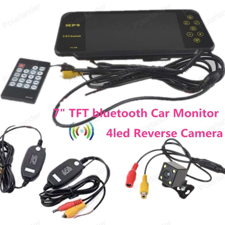 4led reverse camera for car parking reversing with 7 Inch TFT LCD Color Display Screen Car Rear View bluetooth Monitor