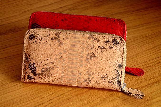Wallet from Python leather Attraction