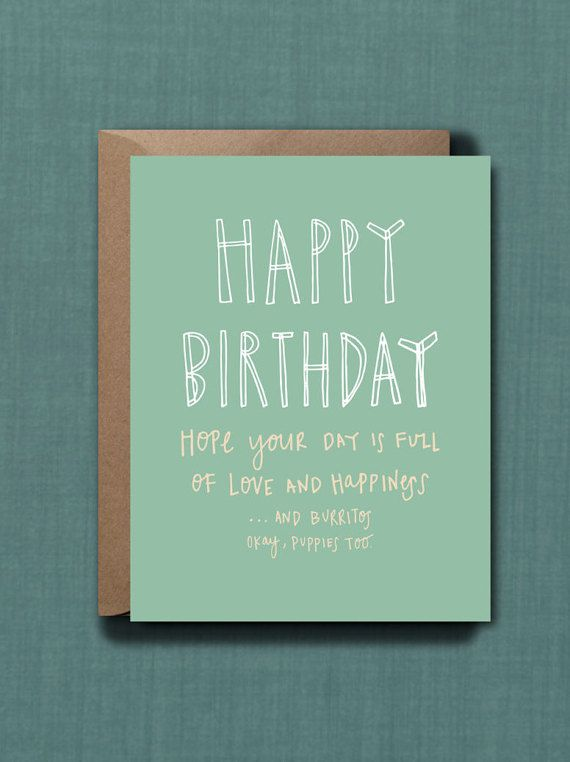 Whimsical Birthday Wishes Greeting Card // 1 by blacklabstudio